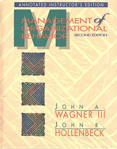 9780131240179: Sm Management Organ Behavior Aie