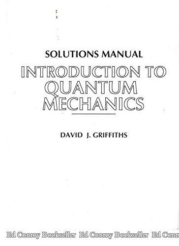 9780131244139: Solutions Manual For Introduction To Quantum Mechanics