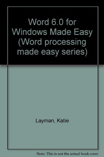 9780131246867: Microsoft Word 6 0 for Windows Made Easy