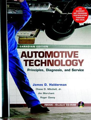 9780131248908: Automotive Technology: Principles, Diagnosis, and Service, Canadian Edition