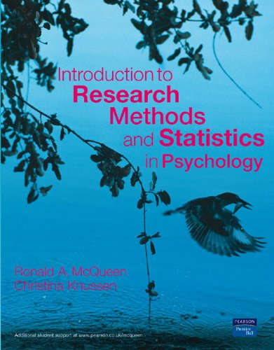 9780131249400: Introduction to Research Methods and Statistics in Psychology
