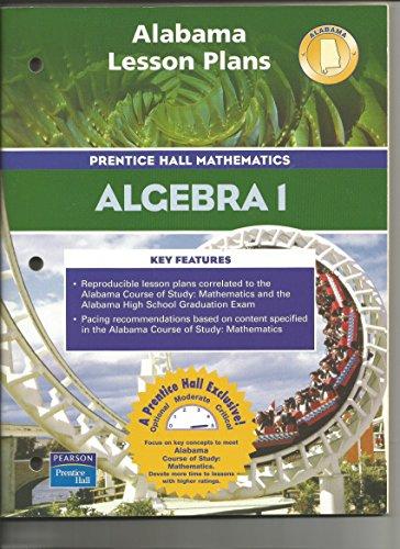 Alabama Lesson Plans for Prentice Hall Mathematics: