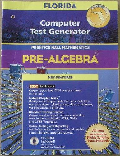 9780131250345: Computer Test Generator CD-ROM (Pre-Algebra Prentice Hall Mathematics)