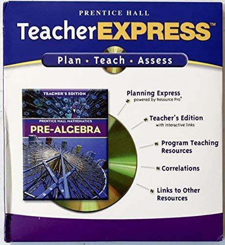 9780131252059: Teacher Express for Prentice Hall Pre-Algebra