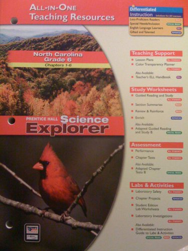 9780131259171: All-in-one Teaching Resources /North Carolina Grade 6 Chapters 1-6/ Science Explorer