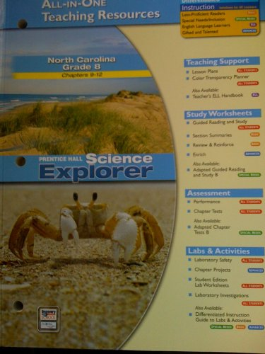 9780131259706: All-in-one Teaching Resources/Prentice Hall Science Explorer (North Carolina Grade 8 Chapters 9-12)