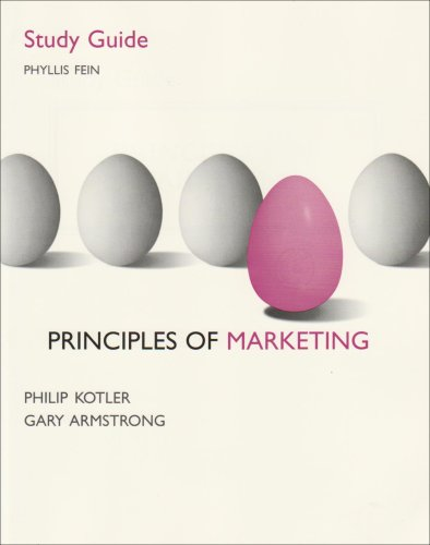 9780131268760: Principles of Marketing: Student Study Guide