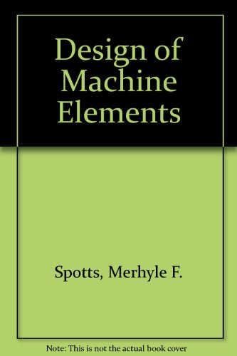9780131269552: Design of Machine Elements