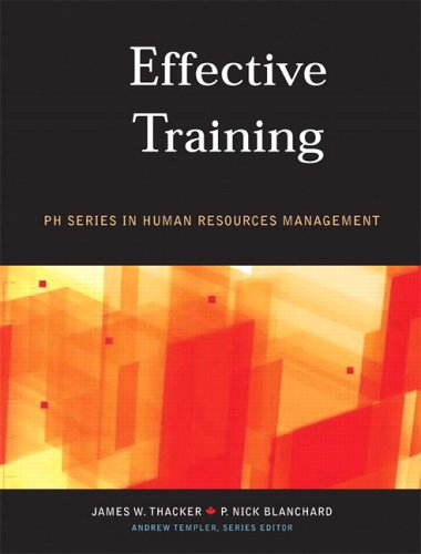 Effective Training, Canadian Edition: Thacker, James W.;