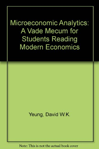 9780131272422: Microeconomic Analytics: A Vade Mecum for Students Reading Modern Economics