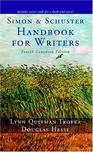 9780131272552: Simon + Schuster Handbook for Writers, Fourth Canadian Edition