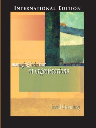 9780131273061: Managing Behavior in Organizations