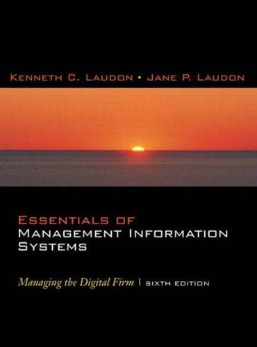 Essentials of Mis: Jane Laudon, Kenneth