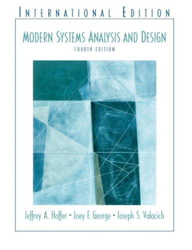 9780131273917: Modern Systems Analysis and Design