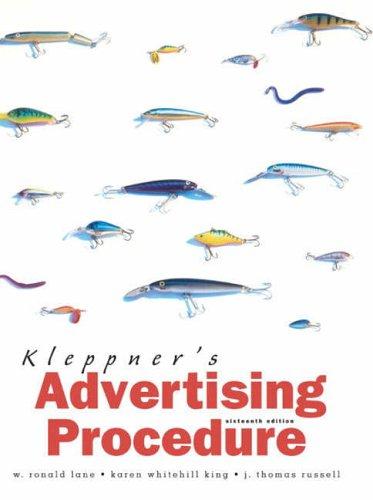 9780131273924: Kleppner's Advertising Procedure