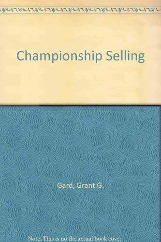 9780131275300: Championship Selling