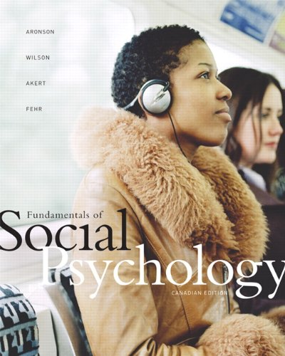 9780131275843: Fundamentals of Social Psychology - Canadian Edition
