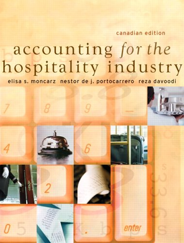 9780131275935: Accounting for the Hospitality Industry, Canadian Edition