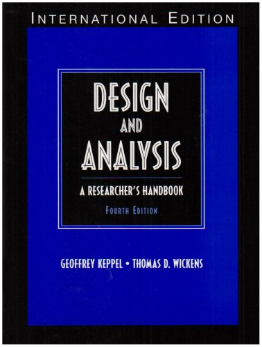 9780131277762: Design and Analysis: A Researcher's Handbook: International Edition