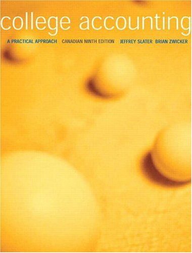 9780131278172: College Accounting: A Practical Approach, Canadian Ninth Edition