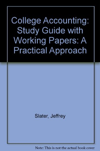 9780131278189: College Accounting: Study Guide with Working Papers: A Practical Approach