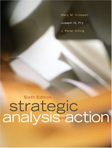 9780131278226: Strategic Analysis and Action (6th Edition)