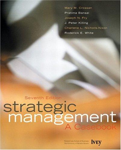 9780131278233: Strategic Management: A Casebook (7th Edition)
