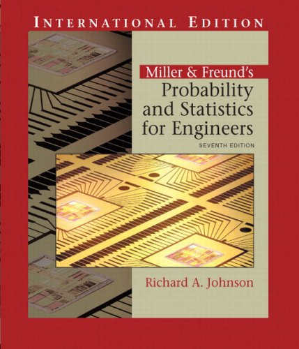 9780131278400: Miller and Freund's Probability and Statistics for Engineers