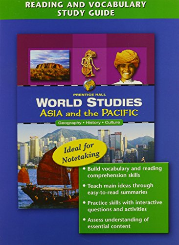 9780131280045: WORLD STUDIES: ASIA AND THE PACIFIC READING AND VOCABULARY STUDY GUIDE  ENGLISH 2005C