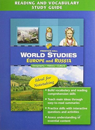 9780131280205: World Studies: Europe and Russia Reading and Vocabulary Study Guide English 2005c