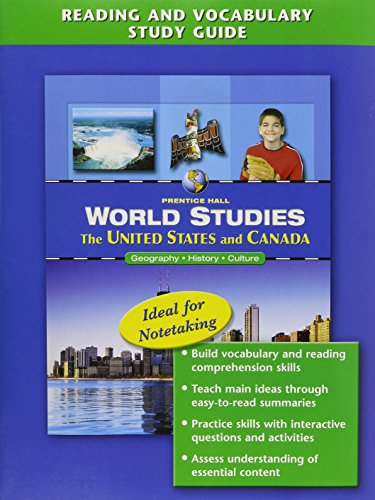 9780131280243: WORLD STUDIES: THE UNITED STATES AND CANADA READING AND VOCABULARY      STUDY GUIDE ENGLISH 2005C