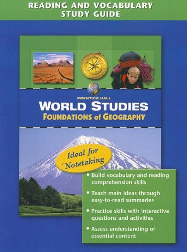 9780131280274: Prentice Hall World Studies: Foundations of Geography- Reading and Vocabulary Study Guide