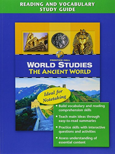 9780131280298: WORLD STUDIES: ANCIENT WORLD READING AND VOCABULARY STUDY GUIDE ENGLISH 2005C