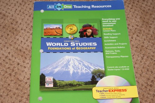 9780131280380: World Studies: Foundations of Geography : All-in-One Teaching Resources