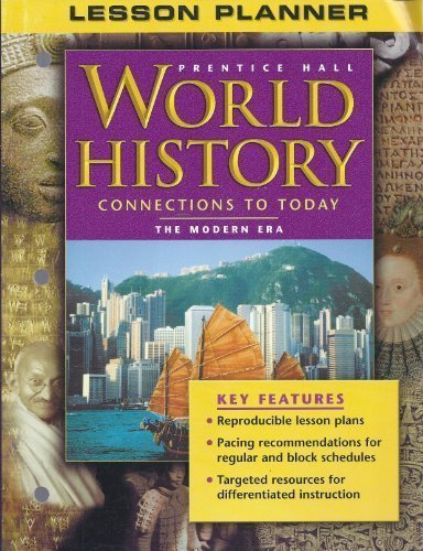 "Lesson Planner for Prentice Hall ""World History,: Hall, Prentice"