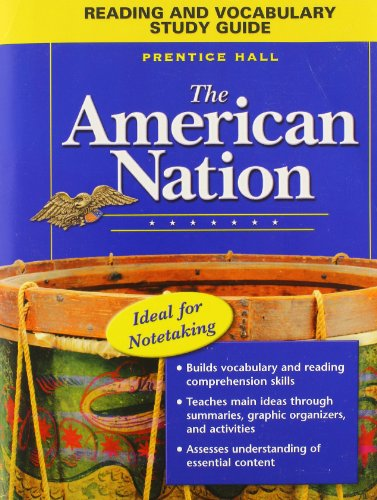 9780131283626: THE AMERICAN NATION READING AND VOCABULARY STUDY GUIDE 2005C