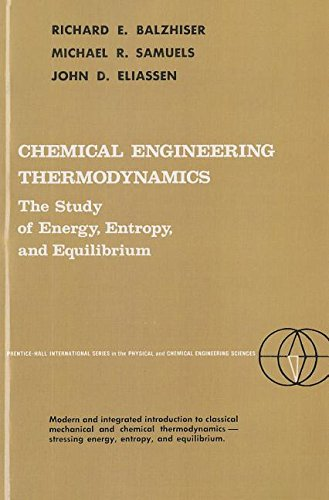 9780131286030: Chemical Engineering Thermodynamics (Prentice Hall International Series in the Physical and Chemi)