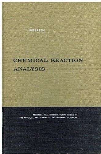 9780131287280: Chemical Reaction Analysis