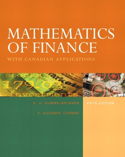9780131290280: Mathematics of Finance with Canadian Applications, Fifth Edition