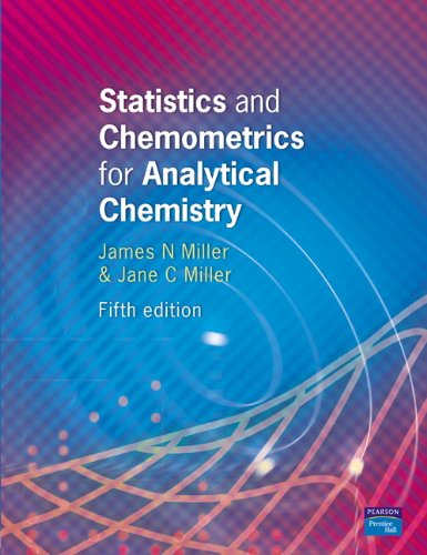 9780131291928: Statistics and Chemometrics for Analytical Chemistry (5th Edition)