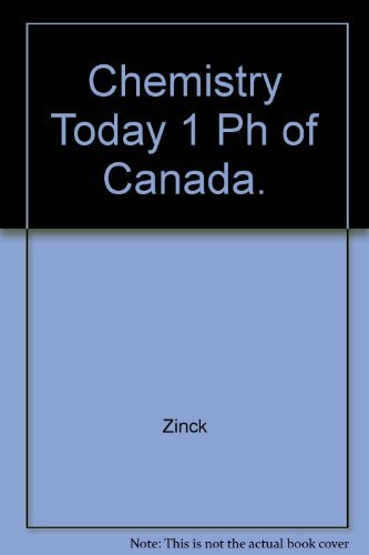 9780131293069: Chemistry Today 1 Ph of Canada.