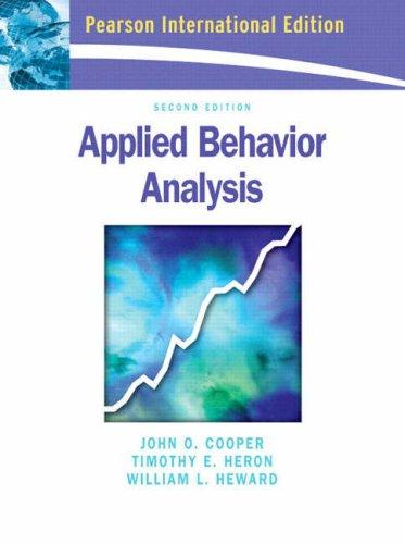 9780131293274: Applied Behavior Analysis. John O. Cooper, Timothy E. Heron, William L. Heward