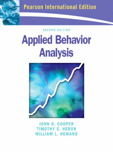 9780131293274: Applied Behavior Analysis:International Edition