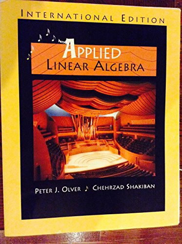 9780131293281: Applied Linear Algebra - International Edition