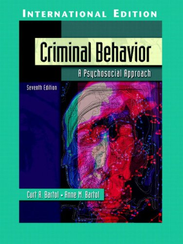 9780131293366: Criminal Behavior: A Psychosocial Approach: International Edition