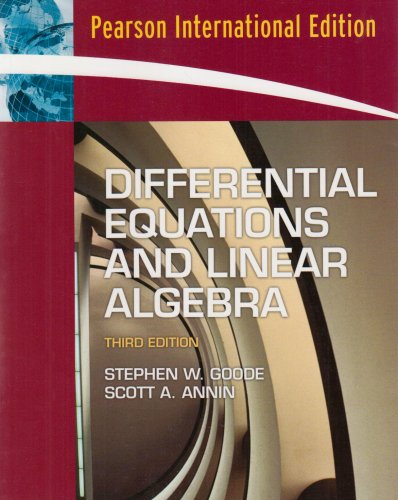 9780131293397: Differential Equations and Linear Algebra: International Edition