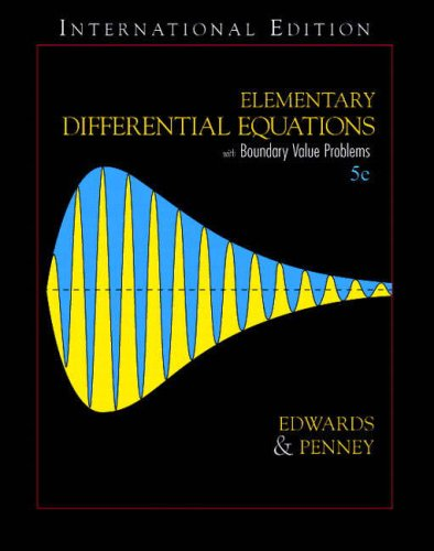 9780131293465: Elementary Diffential Equations with Boundary Value Problems