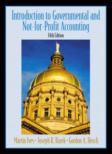 9780131293625: Introduction to Government and Non-For-Profit Accounting