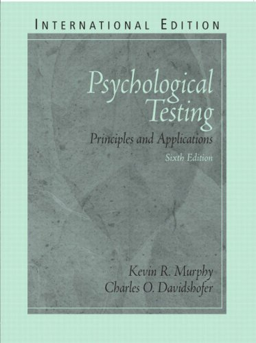 9780131293830: Psychological Testing: Principles and Applications: International Edition