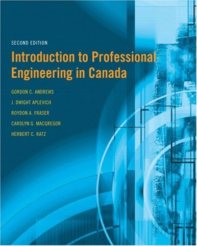 9780131294400: Introduction to Professional Engineering in Canada